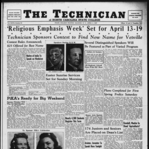 Technician, Vol. 27 No. 23, April 4, 1947