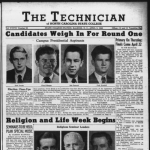 Technician, Vol. 28 No. 22, April 9, 1948