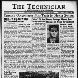 Technician, Vol. 29 No. 26, April 29, 1949