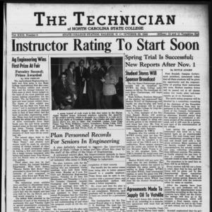 Technician, Vol. 29 No. 5, October 22, 1948
