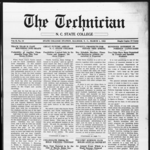 Technician, Vol. 2 No. 10, March 1, 1922