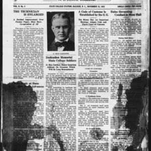 Technician, Vol. 2 No. 3, November 15, 1921