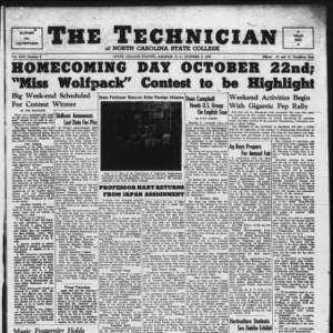 Technician, Vol. 30 No. 3, October 7, 1949