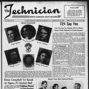 Technician, Vol. 31 No. 18, February 23, 1951