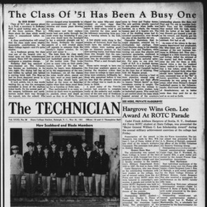 Technician, Vol. 31 No. 31, May 25, 1951