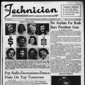 Technician, Vol. 31 No. 4, October 13, 1950