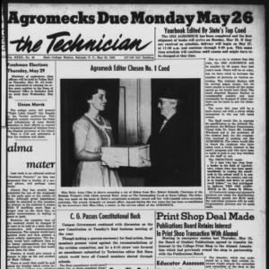Technician, Vol. 32 No. 29, May 23, 1952