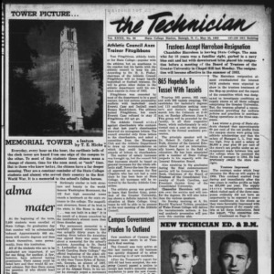 Technician, Vol. 32 No. 30, May 30, 1952
