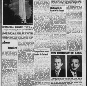 Technician, Vol. 32 No. 30, May 30, 1952