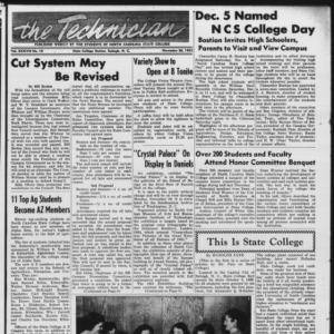 Technician, Vol. 38 No. 10 [Vol. 34 No. 10], November 20, 1953
