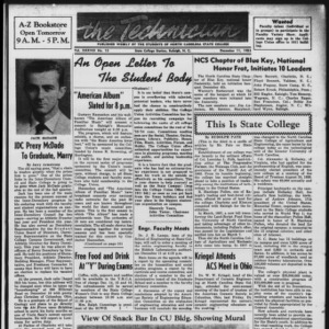 Technician, Vol. 38 No. 13 [Vol. 34 No. 13], December 11, 1953