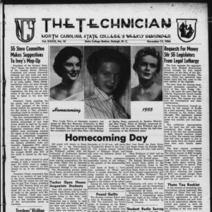 Technician, Vol. 39 No. 10 [Vol. 35 No. 10], November 11, 1954