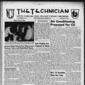 Technician, Vol. 39 No. 13 [Vol. 35 No. 13], December 9, 1954