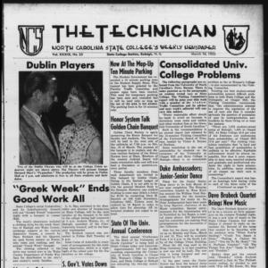 Technician, Vol. 39 No. 23 [Vol. 35 No. 23], March 10, 1955