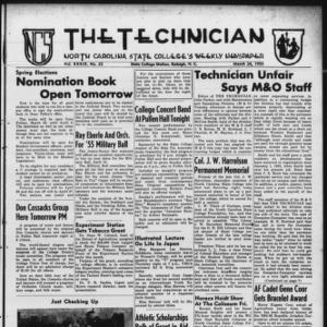 Technician, Vol. 39 No. 25 [Vol. 35 No. 25], March 24, 1955