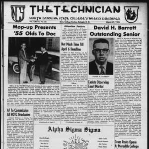 Technician, Vol. 39 No. 26 [Vol. 35 No. 26], March 31, 1955