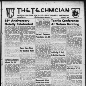 Technician, Vol. 39 No. 5 [Vol. 35 No. 5], October 7, 1954