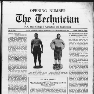 Technician, Vol. 3 No. 1, September 15, 1922