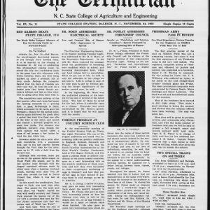 Technician, Vol. 3 No. 11, November 24, 1922
