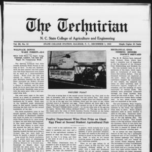 Technician, Vol. 3 No. 12, December 1, 1922