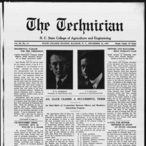 Technician, Vol. 3 No. 14, December 15, 1922