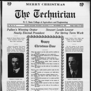 Technician, Vol. 3 No. 15, December 22, 1922