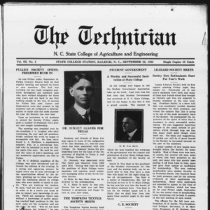 Technician, Vol. 3 No. 2, September 22, 1922