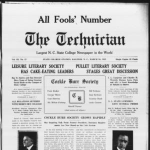 Technician, Vol. 3 No. 27, March 30, 1923