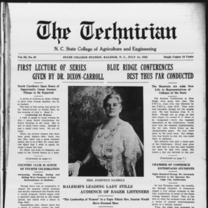 Technician, Vol. 3 No. 40, July 14, 1923