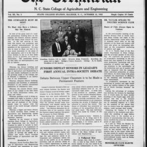 Technician, Vol. 3 No. 5, October 13, 1922