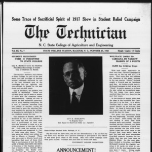 Technician, Vol. 3 No. 7, October 27, 1922