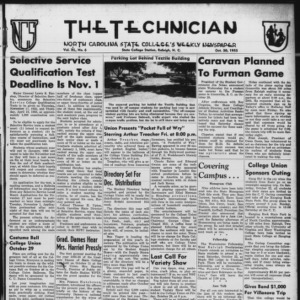 Technician, Vol. 40 No. 6 [Vol. 36 No. 6], October 20, 1955