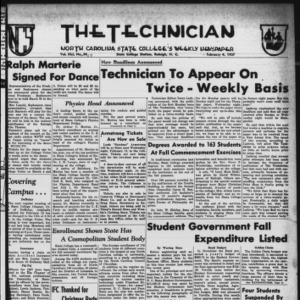 Technician, Vol. 41 No. 17 [Vol. 37 No. 17], February 4, 1957