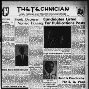 Technician, Vol. 41 No. 31 [Vol. 37 No. 31], March 25, 1957