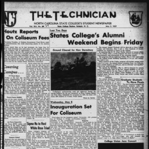 Technician, Vol. 41 No. 39 [Vol. 37 No. 39], May 2, 1957