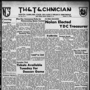 Technician, Vol. 41 No. 5 [Vol. 37 No. 5], October 11, 1956