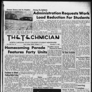 Technician, Vol. 42 No. 14 [Vol. 38 No. 14], November 4, 1957