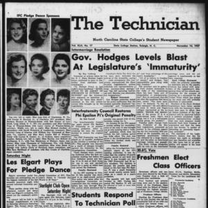 Technician, Vol. 42 No. 17 [Vol. 38 No. 17], November 14, 1957