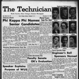 Technician, Vol. 42 No. 19 [Vol. 38 No. 19], November 21, 1957