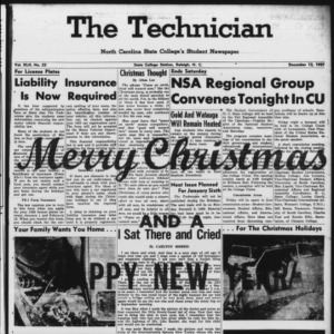 Technician, Vol. 42 No. 23 [Vol. 38 No. 23], December 12, 1957
