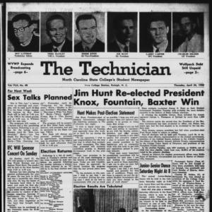 Technician, Vol. 42 No. 48 [Vol. 38 No. 48], April 24, 1958