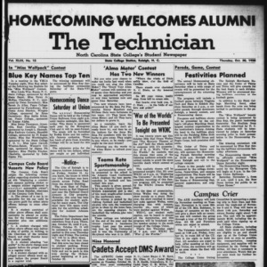 Technician, Vol. 43 No. 15 [Vol. 39 No. 15], October 30, 1958