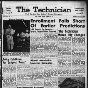 Technician, Vol. 43 No. 2 [Vol. 39 No. 2], September 15, 1958