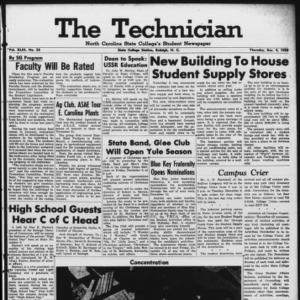 Technician, Vol. 43 No. 23 [Vol. 39 No. 23], December 4, 1958