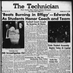 Technician, Vol. 43 No. 25 [Vol. 39 No. 25], December 11, 1958