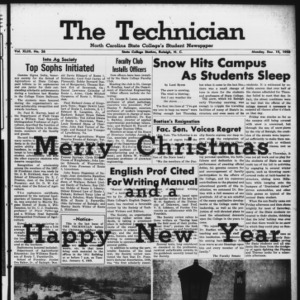 Technician, Vol. 43 No. 26 [Vol. 39 No. 26], December 15, 1958