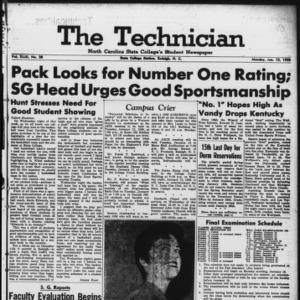 Technician, Vol. 43 No. 28 [Vol. 39 No. 28], January 12, 1959