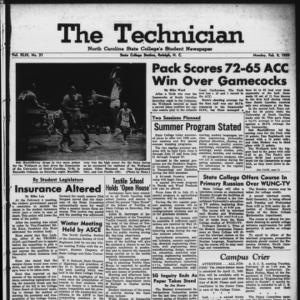 Technician, Vol. 43 No. 31 [Vol. 39 No. 31], February 9, 1959