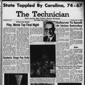 Technician, Vol. 43 No. 34 [Vol. 39 No. 34], February 19, 1959