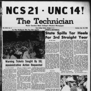 Technician, Vol. 43 No. 4 [Vol. 39 No. 4], September 22, 1958
